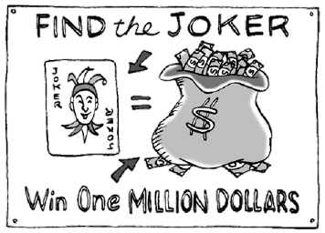 find the joker win one million dollars poster