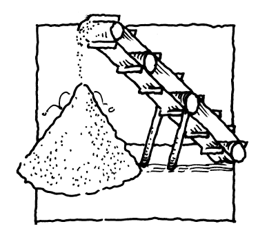 conical sand pile