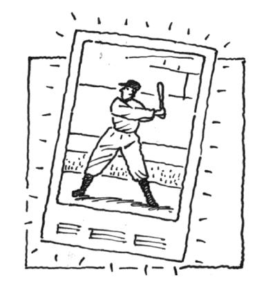 a baseball card