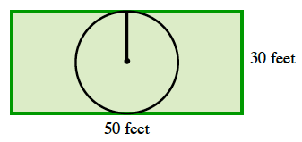 radius in pool