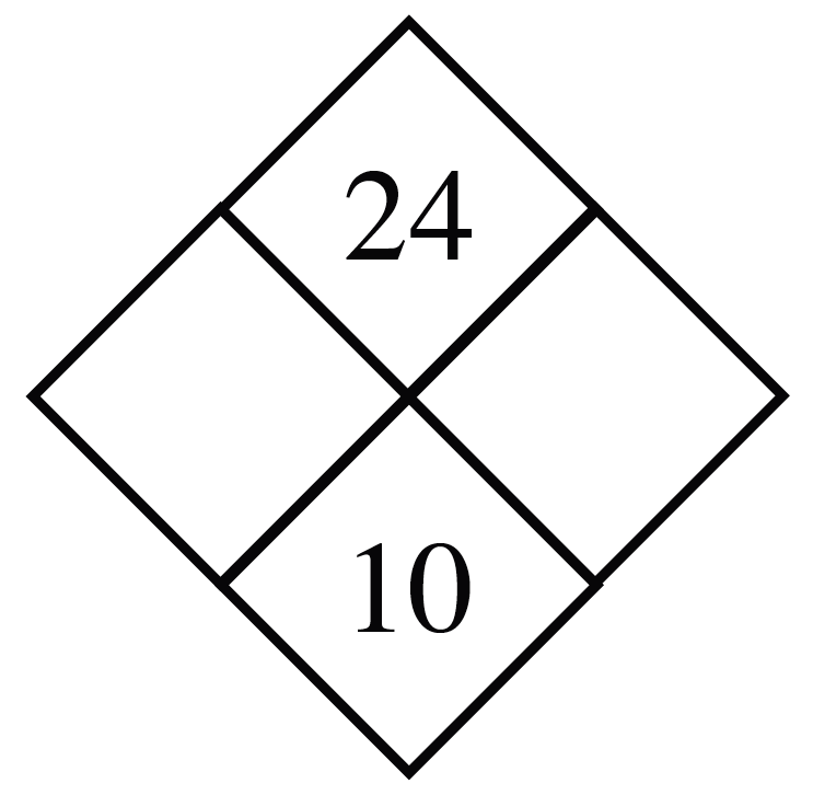 Diamond Problem. Left blank, Right blank,  Top 24, Bottom 10