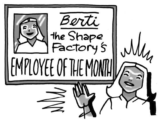 2-85 Berti the Shape Factory's Employee of the Month