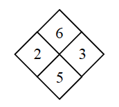 Diamond Problem. Left 2, Right 3, Top 6,  Bottom 5