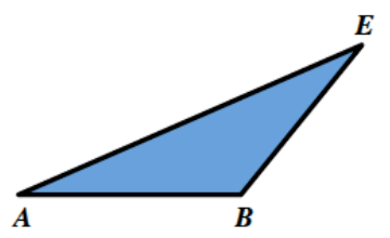 Triangle, A, B, E, in the same shape as in the original image.
