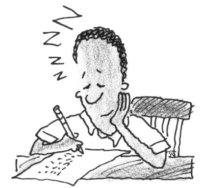 Student doing math homework