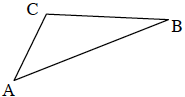 A triangle labelled A, B, and C.
