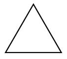 Figure 1: A triangle with equal sides.