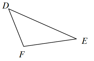 Triangle D, E, F.