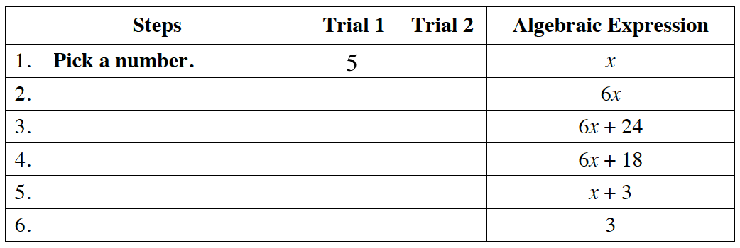 answer table