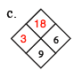 Diamond Problem Answer. Left 3, Right 6, Top 18, Bottom 9