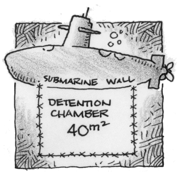 Submarine Wall: Detention Chamber 40 square meters