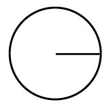A circle with a radius of 8 cm.