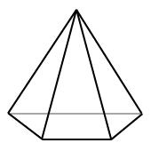 Pyramid where the base is a trapezoid.