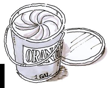 1 gallon of orange paint