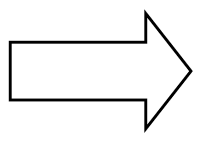 An outlined right pointing arrow.