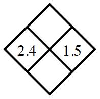Diamond Problem. Left 2.4,  Right