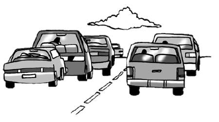 commuters in cars