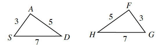 dtwo triangles