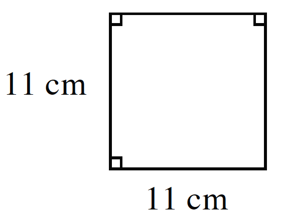 A square with  sides labeled, x.