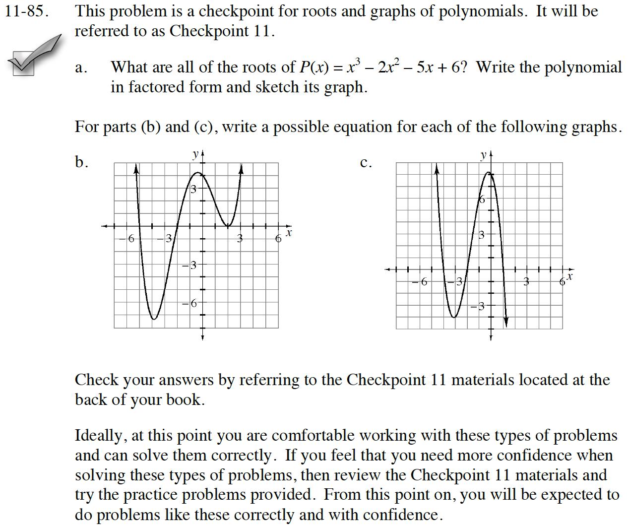 CPM Homework Help : INT3 Problem 11-85