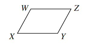 Parallelogram W X Y Z.
