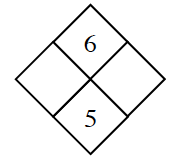 Diamond Problem. Left blank, Right blank, Top 6,  Bottom 5