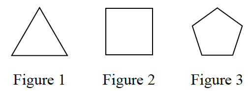 1-12 Figure 1 is an equilateral triangle. Figure 2 is a square. Figure 3 is a regular pentagon.