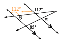 At the intersection of the left parallel line & the top transversal, the exterior right angle is, 118 degrees, also.