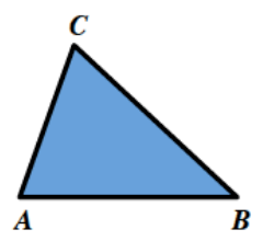 Triangle, A, B, C, in the same shape as in the original image.