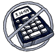 No Calculator Icon