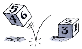 Two six-sided dice