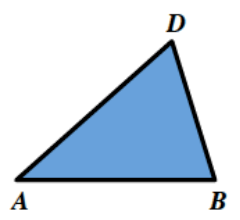 Triangle, A, B, D, in the same shape as in the original image.