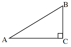Right triangle ABC with the right angle at C.