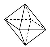8 sided polyhedron, all faces are triangles.