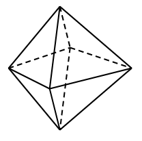 Octahedron with all triangular faces.
