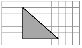 An enclosed figure: Starting at the upper left corner: diagonally down 5 and right 5, then left 5, then up 5, to enclose the figure.