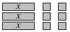 3 x-tiles + 9 unit tiles