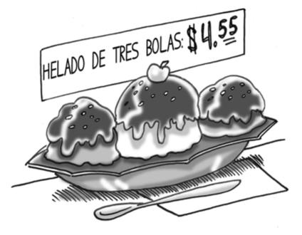 three-scoop sundae
