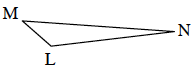 A right triangle X, Y, Z where the right angle is Y.