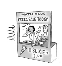 Math club pizza sale.