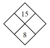 Diamond Problem. Left blank, Right blank, Top 15,  Bottom 8