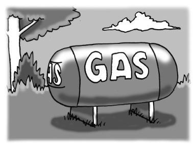 outdoor gas tank