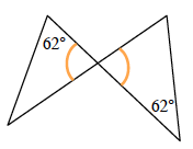 What kind of angles are the angles directly opposite of each other by two intersecting lines?
