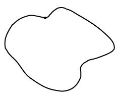 A closed loop of string.