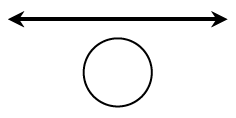 diagram with arrowed line with circle underneath