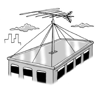 antenna on roof