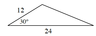 triangle with sides 12 and 24