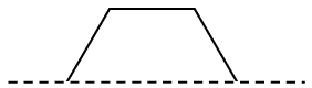 An isosceles trapezoid where the line of reflection is the bottom base.