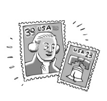 Two postal stamps