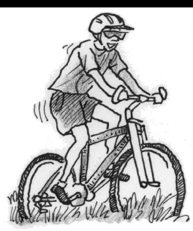 Steve on his bike